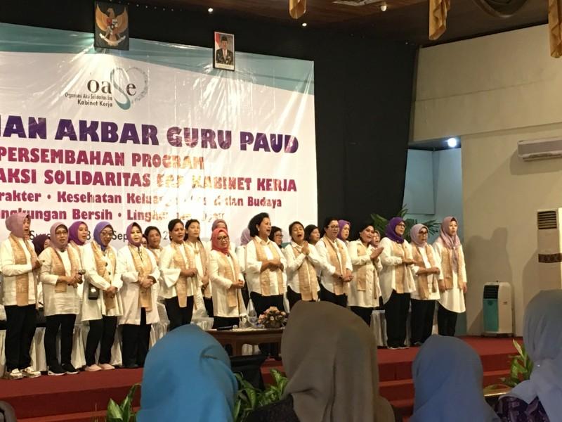 Ibu Negara Hadiri Pelatihan Akbar Guru PAUD