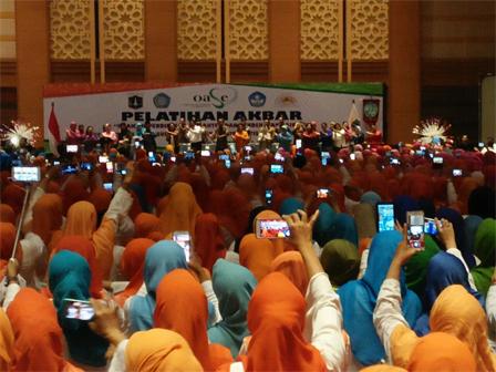 Presiden Secara Resmi Tutup Pelatihan Akbar Guru PAUD DKI Jakarta
